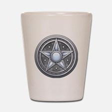 Pentacle - silver moonstone - transpare Shot Glass