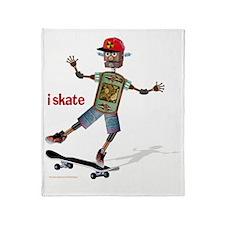 robot skateboard  Throw Blanket
