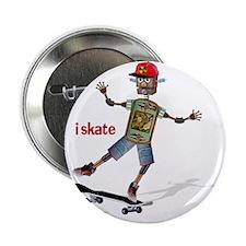 "robot skateboard  2.25"" Button"