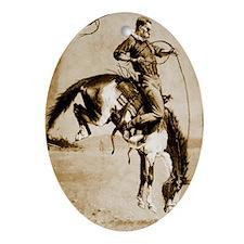 A Bucking Bronco, 1888 Oval Ornament