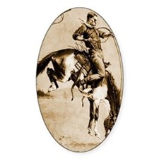 A Bucking Bronco, 1888 Decal
