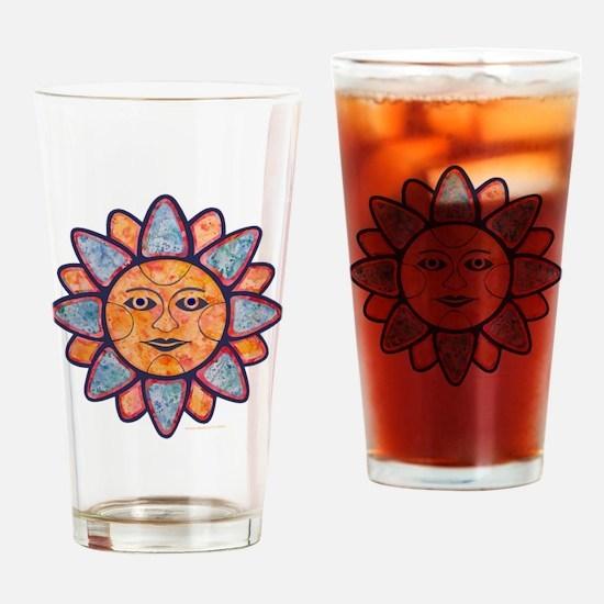 Sun Face Drinking Glass