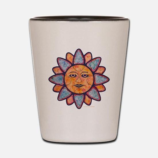 Sun Face Shot Glass
