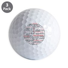 Bon appetit in many languages - Red Golf Ball