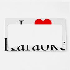 ILuvKaraoke License Plate Holder