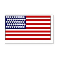 Challenge Accepted USA Rectangle Car Magnet