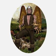 ANGEL_Raphael_postcard Oval Ornament