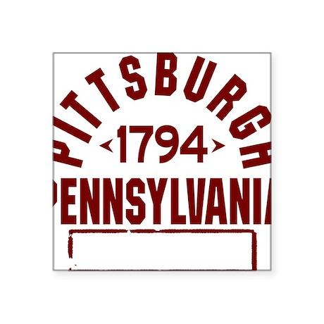 "Pittsburgh INC W Square Sticker 3"" x 3"""