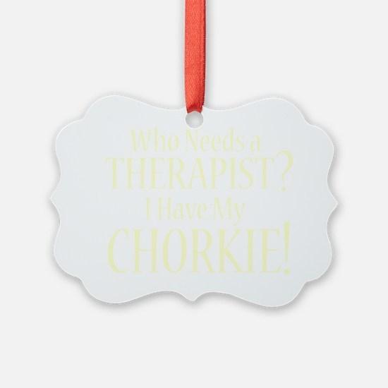 therapistchorkie_black Ornament