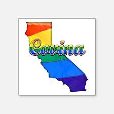 """Covina Square Sticker 3"""" x 3"""""""