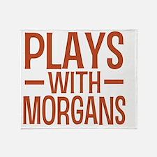 playsmorganhorses Throw Blanket