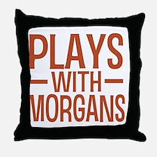 playsmorganhorses Throw Pillow
