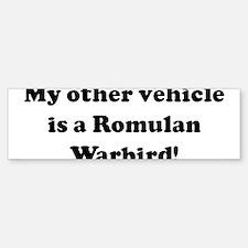 My other vehicle is a Romulan Bumper Bumper Bumper Sticker