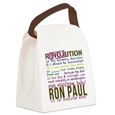 ron paul tike Canvas Lunch Bag