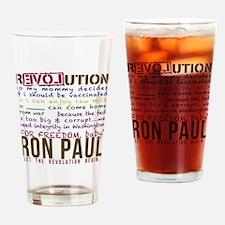 ron paul tike Drinking Glass