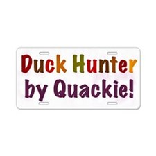 BY QUACKIE RECTANGLE Aluminum License Plate