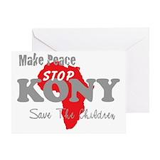 KONY Peace 2 Greeting Card