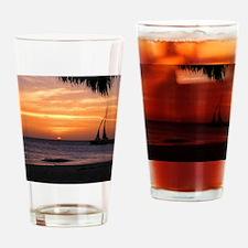 Aruba Sunset Sail-10 Drinking Glass