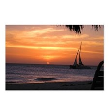 Aruba Sunset Sail-10 Postcards (Package of 8)