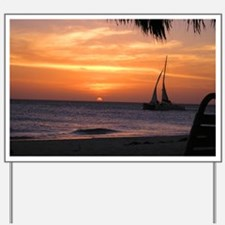 Aruba Sunset Sail-10 Yard Sign