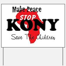 KONY Peace Button 1 Yard Sign