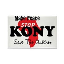 KONY Peace Button 1 Rectangle Magnet