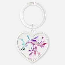 flourish Heart Keychain