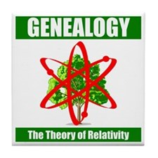 Gen.theory of relativity Tile Coaster
