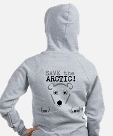Women's Save The Polar Bear Zip Hoodie