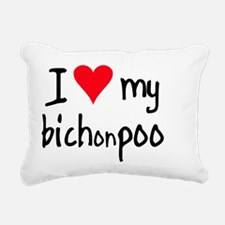 iheartbichonpoo Rectangular Canvas Pillow