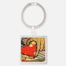 Heart of an Artist Square Keychain