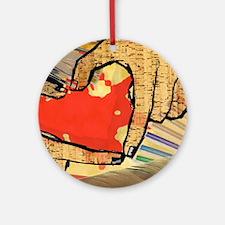 Heart of an Artist Round Ornament