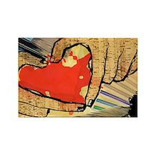 Heart of an Artist Rectangle Magnet
