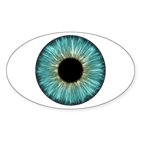 CafePress Weird Eye Oval Sticker Sticker Oval 109702136