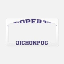 bichonpooproperty License Plate Holder