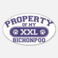bichonpooproperty Sticker (Oval)