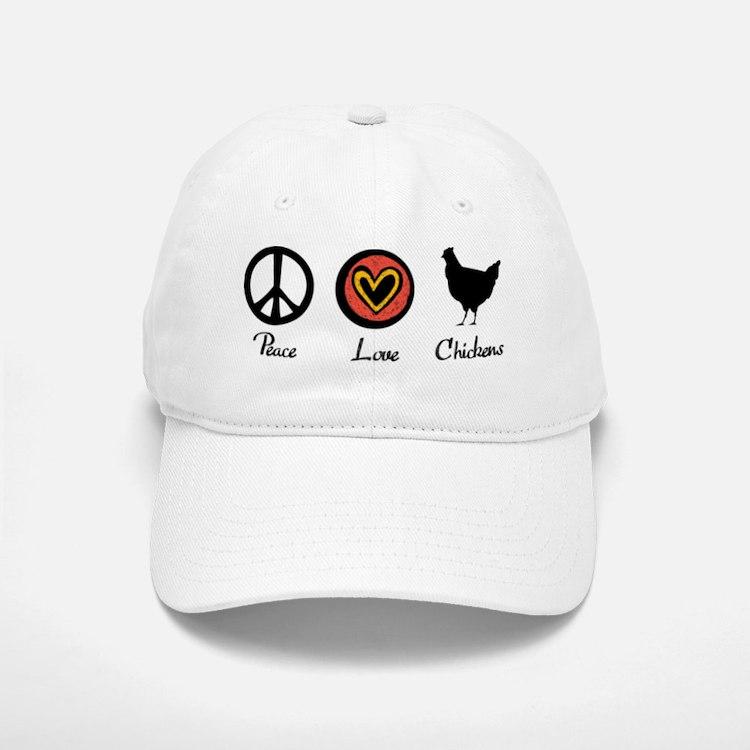 peacelovechickens Baseball Baseball Cap