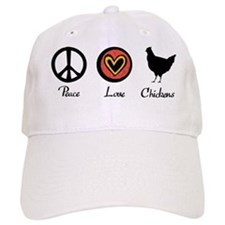 peacelovechickens Baseball Cap