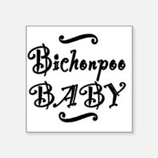 "bichonpoobaby Square Sticker 3"" x 3"""