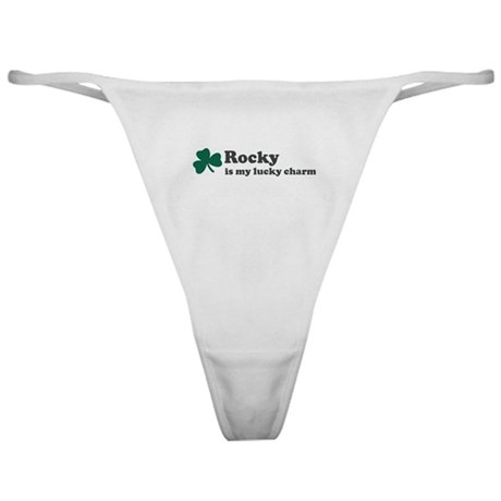 Rocky is my lucky charm Classic Thong