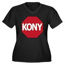 Stop Kony Women's Plus Size Dark V-Neck T-Shirt