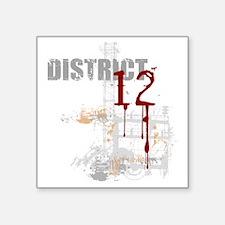 """district 12 grunge Square Sticker 3"""" x 3"""""""