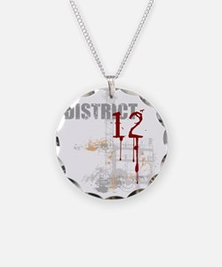 district 12 grunge Necklace Circle Charm
