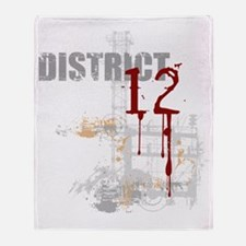 district 12 grunge Throw Blanket