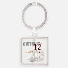 district 12 grunge Square Keychain