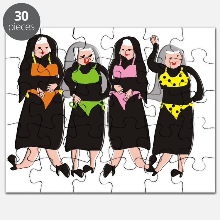 Nun wearing bikinis 4 Puzzle