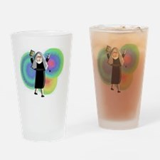 nun escaped convent Drinking Glass