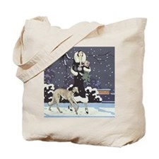 Borzoi Holiday Tote Bag
