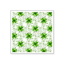 "Happy Holiday St. Pat Shamr Square Sticker 3"" x 3"""