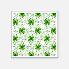 "Happy Holiday St. Pat Shamr Square Sticker 3"" x 3"""